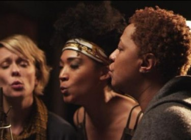 Backup singers (from left) Jo Lawry, Judith Hill and Lisa Fischer get a richly deserved spotlight. Photo © 2013 TWC