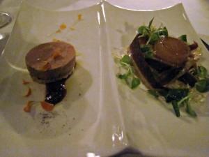 Foie gras and duck prosciutto