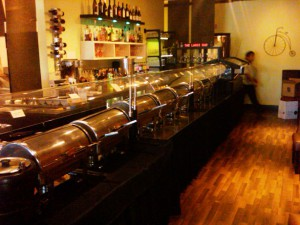 The buffet at Mint Indian Bistro