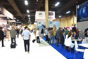 The show floor was crowded at Cosmoprof North America 2016.  Photo by Diane Taylor
