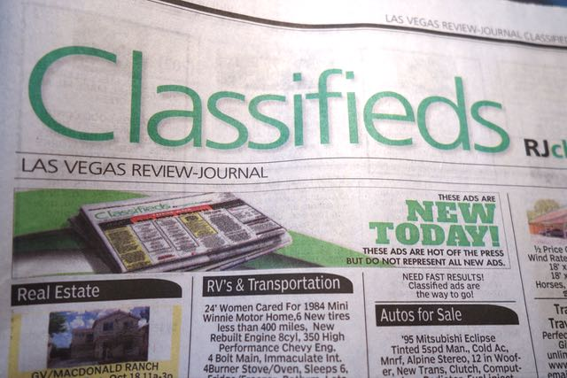 From Ferrari to Bath Fitters    a Look at the Classifieds