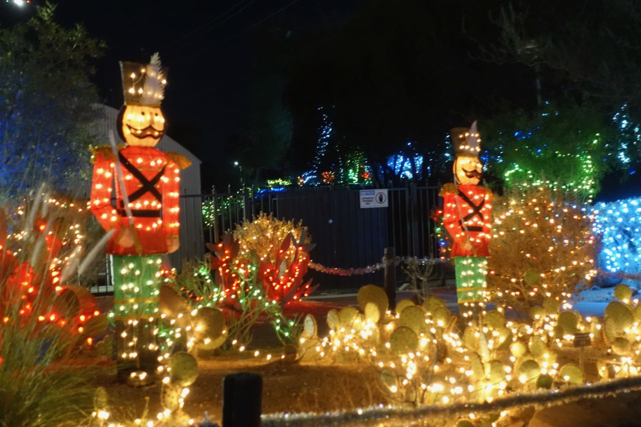 photo by diane taylor what is a holiday display without wooden soldierswith lights