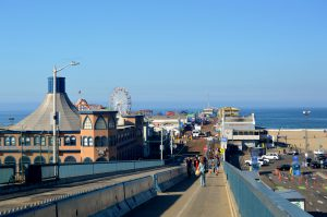 Walking down to the Pier from Palisades Park.Photo by Osie Turner