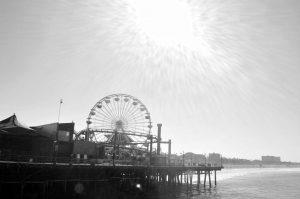 Pacific Park in Black and white.Photo by Osie Turner