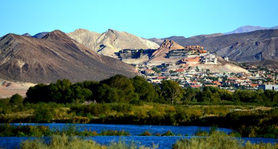 Las Vegas Wetlands Park view from the Pabco Trailhead