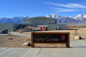 The Manzanar Visitor Center and museum.