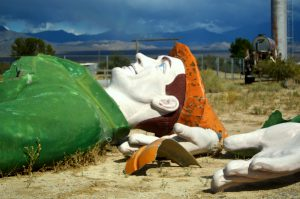 The Green Giant, or Home Giant, used to be the first thing visitors saw when entering Pahrump.Photo by Osie Turner