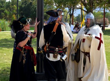 Crusaders and pirates.Photo by Osie Turner