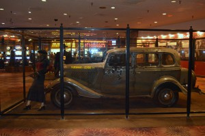 The Bonnie and Clyde Car as it looks today.