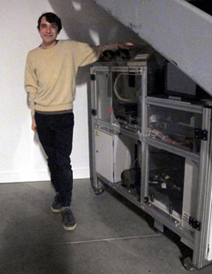 Drew Cohen and Espresso book machine