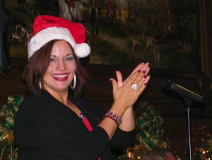 Elisa Fiorillo at the Stirling Club holiday party December 20.<br><em>Photo by Diane Taylor</em>