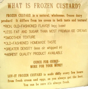Now you know, what's in a frozen custard<br>Photo by Megan Edwards