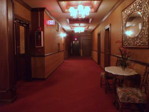 The 5th floor hallway where the Lady in Red is believed to have been murdered.Photo by Osie Turner