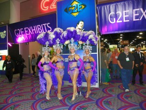 G2E 2009 welcomed 566 exhibitors, vs. 724 last year. <br><em>Photo by Diane Taylor</em>