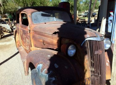 A 1937 Chevy found at the Shoshone Museum.Photo by Osie Turner
