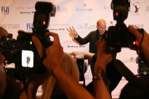 John Varvatos on the red carpet from the photo pit