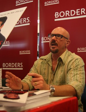 R G Ryan at his book signing at Borders Town Square