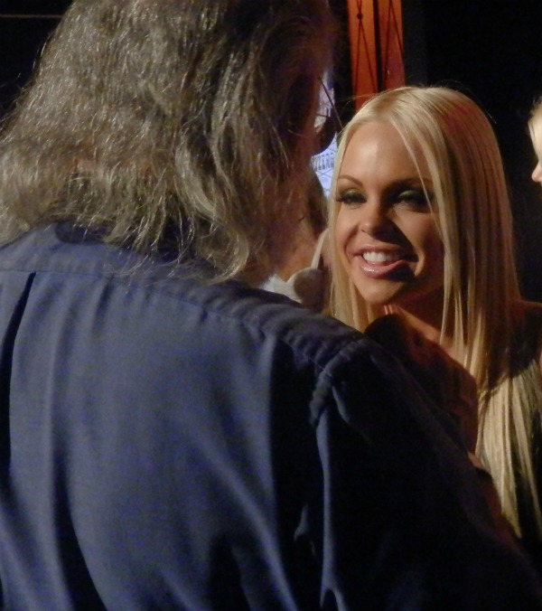 Jesse Jane meets a fan at AVN's Adult Entertainment Expo.