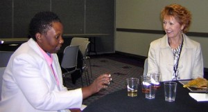 Joy Njuguna and Jane Pettigrew at the tasting