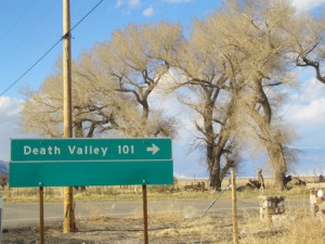 Turnoff to Death Valley at Olancha, California