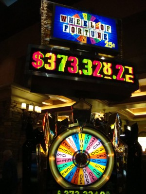 The 25-cent Wheel of Fortune has nearly doubled since Christmas.