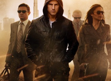 "Jeremy Renner, Tom Cruise, Simon Pegg and Paula Patton (from left) accomplish the impossible in the fourth ""Mission Impossible"" film. Photo: Courtesy of Paramount Pictures"