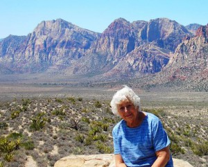 My mother at Red Rock
