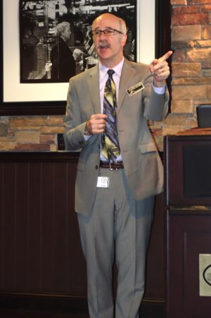 Bruce Z. Morgenstern, M.D. was the featured speaker at the June meeting of the Clark County Association of Health Underwriters.  Photo by Diane Taylor