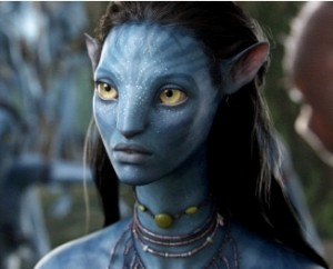 Neytiri sees a new future. (used by permission from 20th Century Fox)