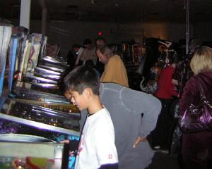 Pinball player playing pinball