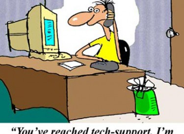tech support, a new cartoon by jerry king