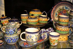 Hand-decorated Pottery from Poland