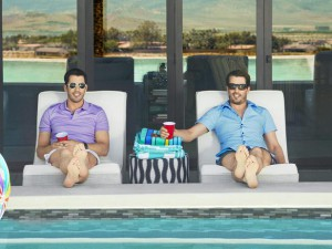 Local furniture builder, Somers Furniture, built the lounge furniture for HGTV's Property Brothers' home in Las Vegas. The company's marketing information at The Las Vegas Market featured this photo.   Photo ourtesy of Somers Furniture