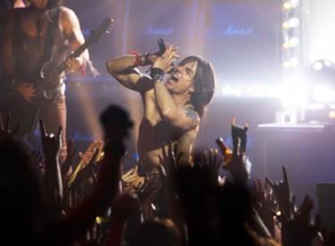 Rock star Stacee Jaxx (Tom Cruise) plays to an enthusiastic crowd. Photo: David James/© 2012 Warner Bros. Entertainment Inc.