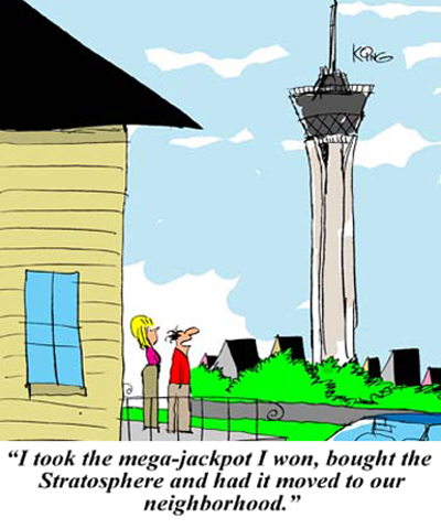 stratosphere a new carton by Jerry king