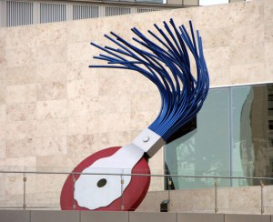 Claes Oldenborg's <em>Typewriter Eraser</em>, on display near the Mandarin Oriental Hotel at CityCenter<br><em>Photo by Mark Sedenquist</em>