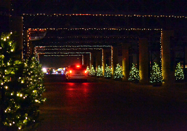Glittering lights sparkle at the las vegas speedway for Motor speedway las vegas christmas lights
