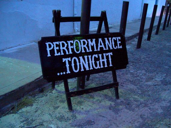 Performance...Tonight