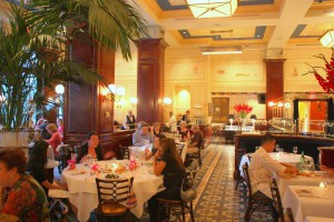Elegant, classy and stylish:  The dining room at Bouchon