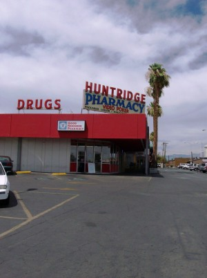 The outside of the Huntridge Pharmacy, home to the Huntridge Diner.