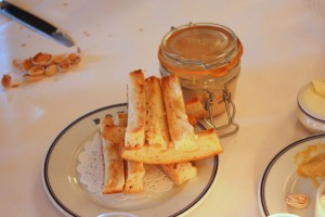 The Bouchon foie gras is served in its own jar.