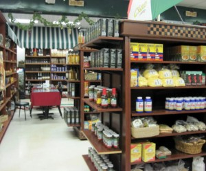 Aisles are filled with Italian imports