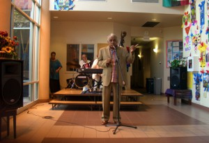 Thurman Hackett Opens the Exhibit at the Arts Center