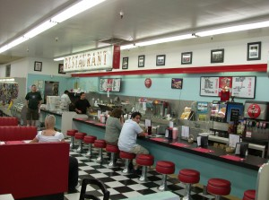 The lunch counter at the Huntridge Diner