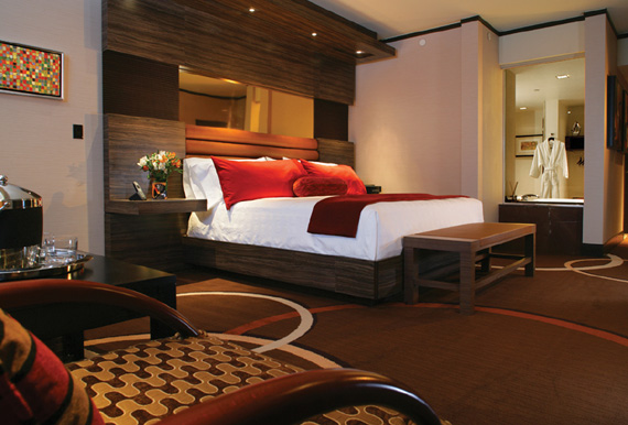 Luxury room at the M Resort