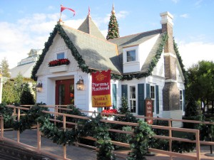 Visit Santa in the Norman Rockwell inspired house