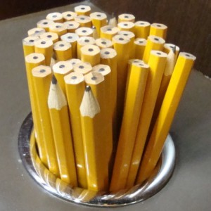 Stubby pencils are a tool of the trade for sports bettors in Las Vegas.