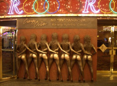 Crazy Girls bronze relief at the Riviera Hotel & Casino on the Las Vegas StripPhoto by Megan Edwards