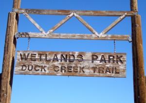 Wetlands Park Duck Creek Trail sign
