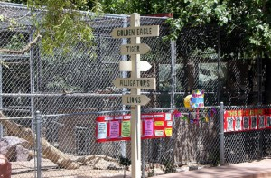 The signs need a makeover -- Tigers haven't been in residence for at least a couple of years